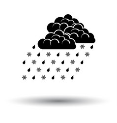 rain with snow icon vector image vector image