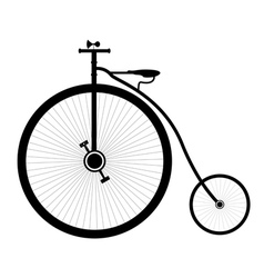 retro bike vector image vector image