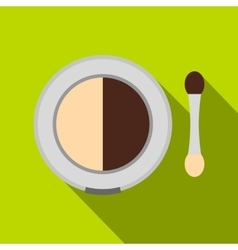Shadow palette with applicator vector