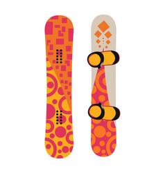 snowboard sport boards elements vector image
