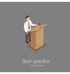Speaker saying speech vector image vector image