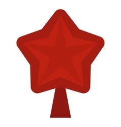 Star for Christmas tree icon flat style vector image vector image