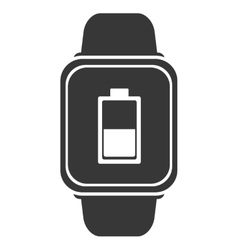 Smart watch with battery icon vector