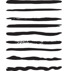 Set of brushes vector
