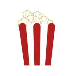 Popcorn box snack vector
