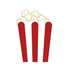 popcorn box snack vector image