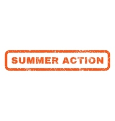 Summer action rubber stamp vector