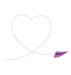 Sign with paper plane and heart vector