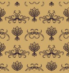 engraving vintage seamless pattern vector image