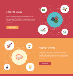 Flat icons cash design administration and other vector