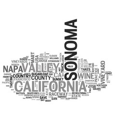 Sonoma word cloud concept vector