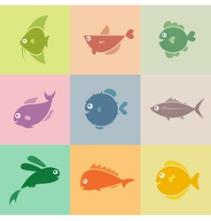 Fish group vector image