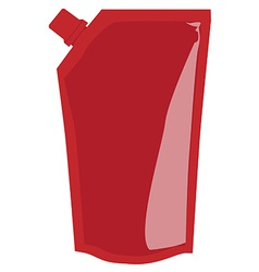Red sauce package vector