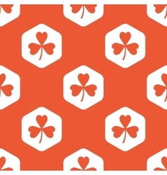 Orange hexagon clover pattern vector