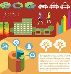 Infographic with graphs and people vector