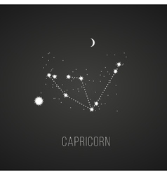 Astrology sign capricorn on chalkboard background vector