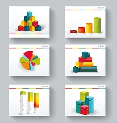 Presentation slide templates for your business vector