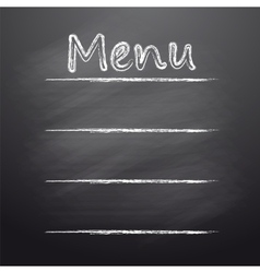 Menu written on a blackboard vector image