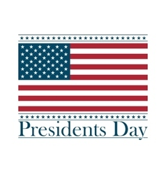 Presidents day background united states vector