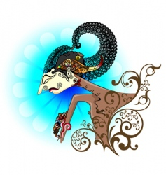 wayang kulit or shadow puppet vector image