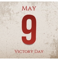 Victory day may 9th realistic festive label vector
