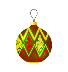Christmas ball on white background vector