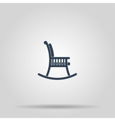 Rocking chair icon vector