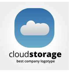 Abstract storage icon logotype concept isolated on vector image vector image