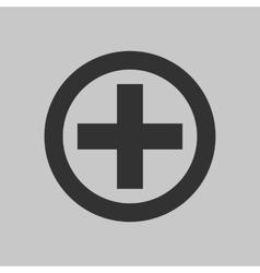 black cross icon vector image