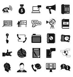 Chat icons set simple style vector