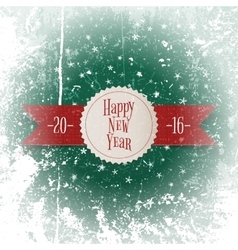 Christmas and New Year white Label on red Ribbon vector image vector image