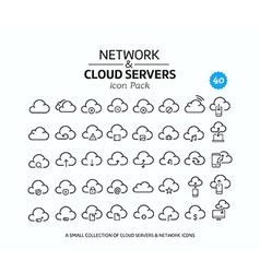Cloud service icon set vector