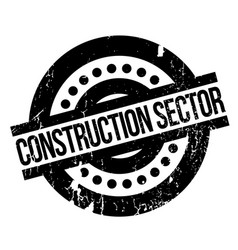 Construction sector rubber stamp vector