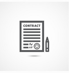 contract icon on white vector image vector image