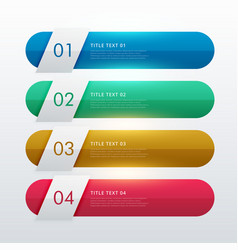 four steps colorful infohraphic template design vector image vector image