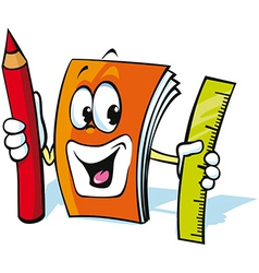 funny exercise book cartoon vector image vector image