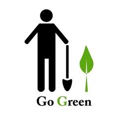 Go green emblem vector
