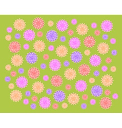 green grass background and color flowers vector image vector image
