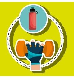 Hand glove sport gym vector