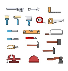 hand tools set vector image