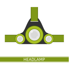 headlamp icon vector image vector image