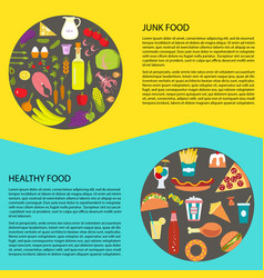 Healthy and fast food vector