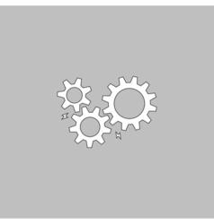 mechanism computer symbol vector image vector image