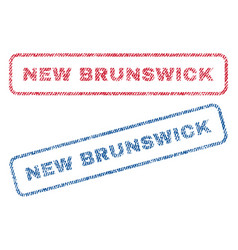 new brunswick textile stamps vector image vector image