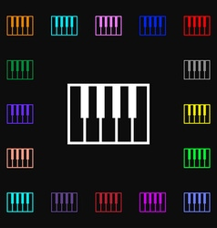 piano key icon sign Lots of colorful symbols for vector image