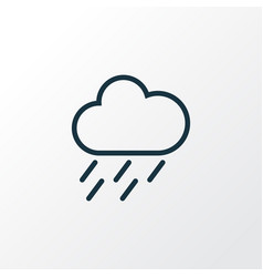 rainstorm outline symbol premium quality isolated vector image vector image
