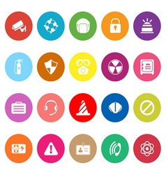 Safety flat icons on white background vector
