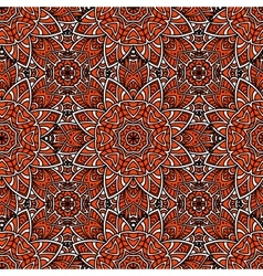Seamless abstract geometric floral pattern vector