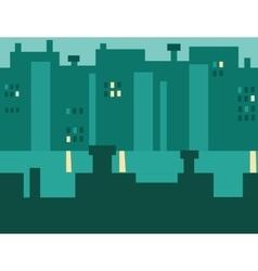 Seamless cartoon night city landscape vector