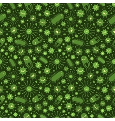 Seamless pattern with the viruses vector